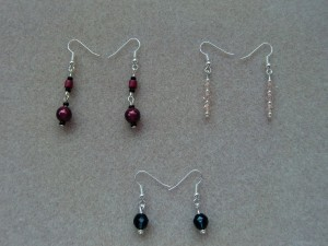 Selection of earrings