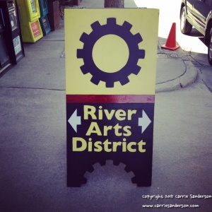 River Arts District Sign