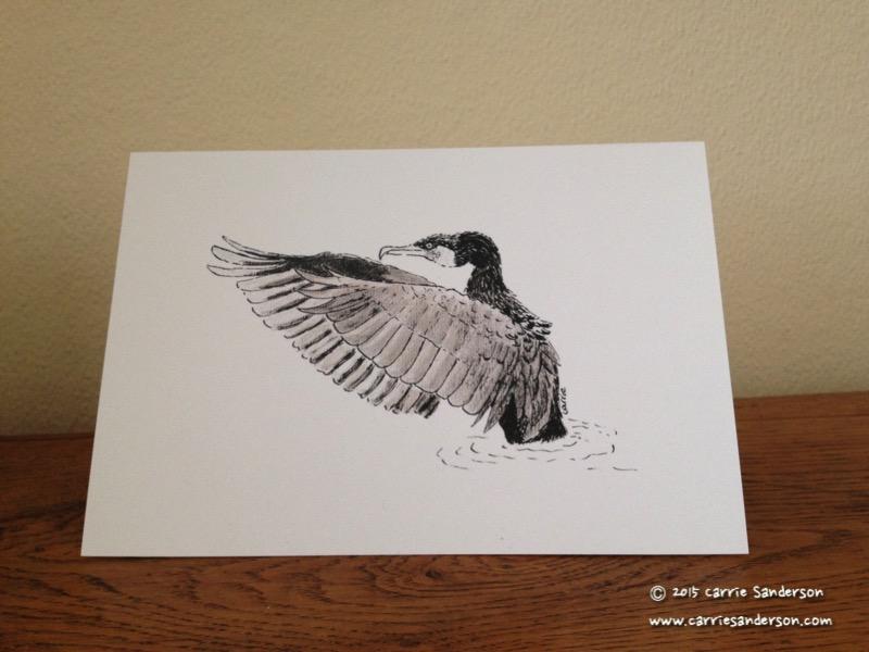 Cunning Cormorant Greeting Card