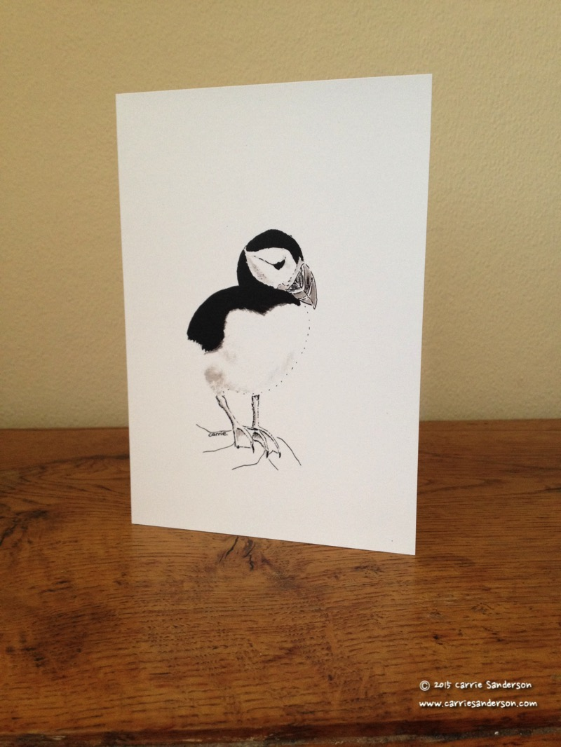 Puffin Power Greeting Card