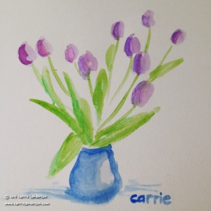 Tulips in Watercolour - Carrie Sanderson