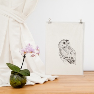Tawny Owl Giclee Print - Carrie Sanderson