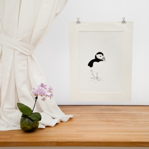 Puffin Power Giclee Print - Carrie Sanderson