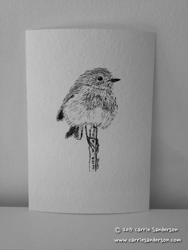 Robin Balancing On A Stick Giclée Print