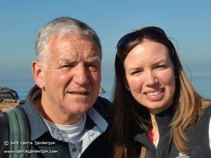Dad and I at Dunbar Harbour, Scotland