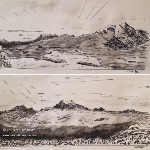 Pen And Ink Drawings Scottish Highlands - Carrie Sanderson Art