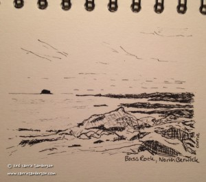 Bass Rock, North Berwick Sketch - Carrie Sanderson