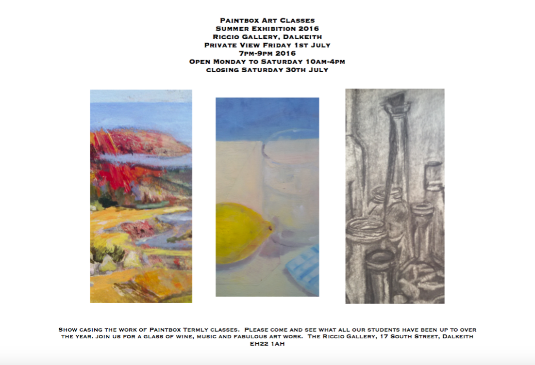 Paintbox Summer Exhibition July 2016