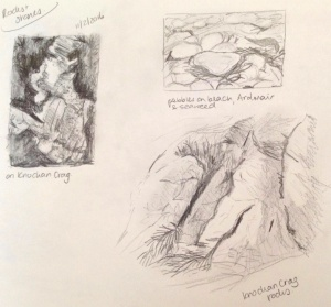 Rocks and Stones - Sketches in Sketchbook