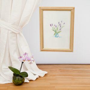 Purple Tulips Giclee Print - Carrie Sanderson